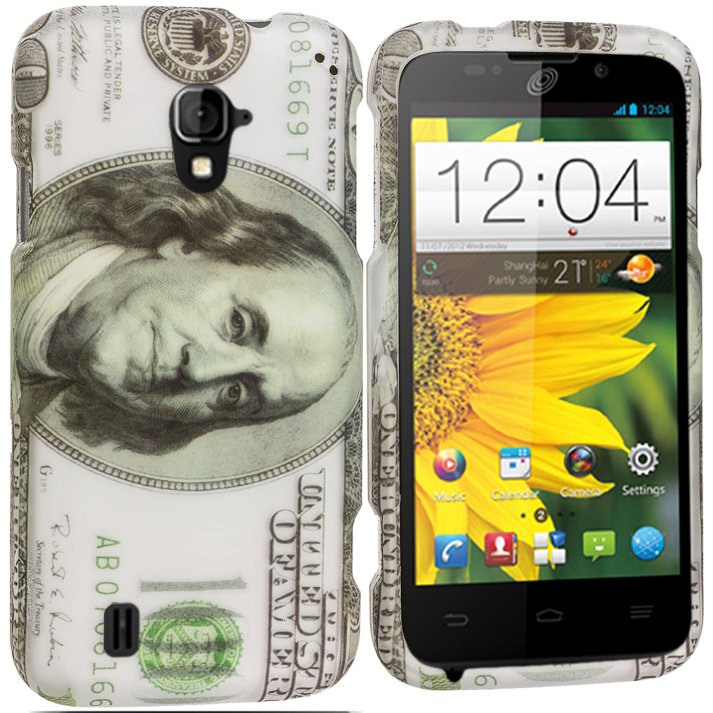 ZTE Majesty Z796C Hundred Dollars 2D Hard Rubberized Design Case Cover