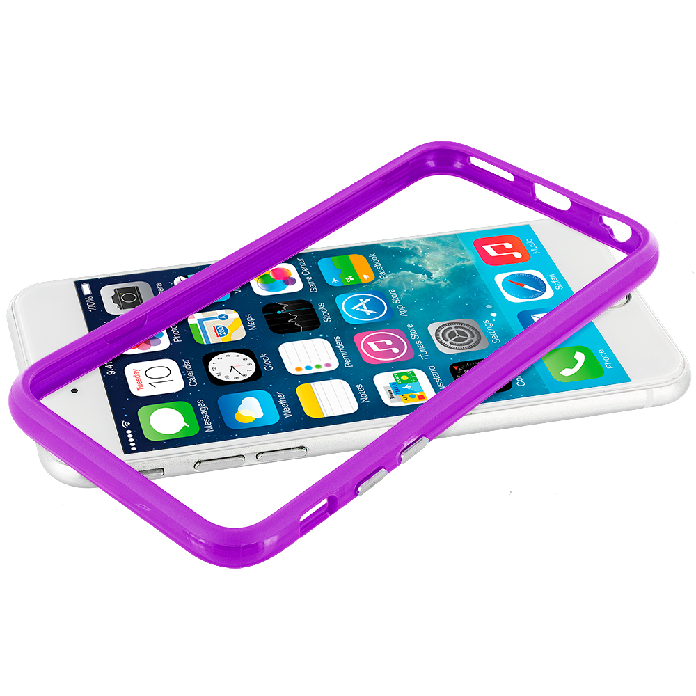 Apple iPhone 6 Plus 6S Plus (5.5) Purple Hybrid TPU Bumper Case Cover