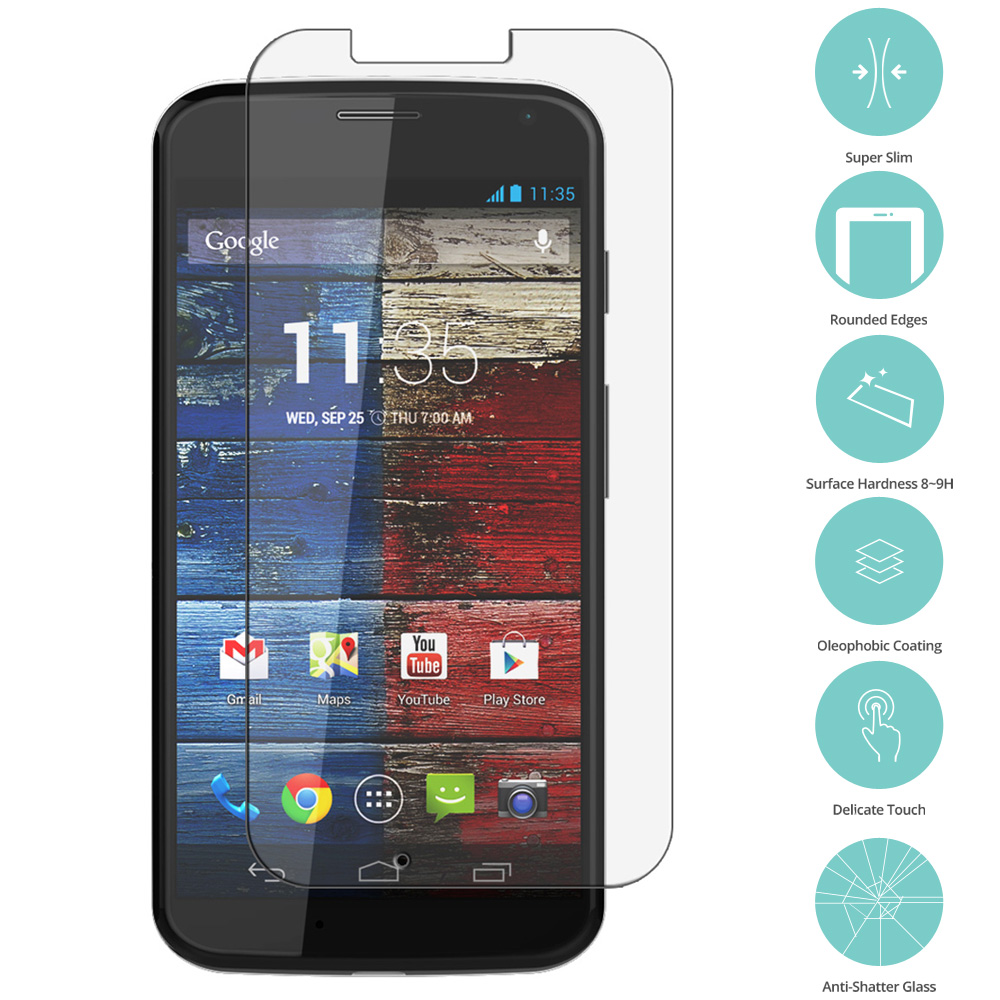 Motorola Moto X Clear Tempered Glass Film Screen Protector Clear