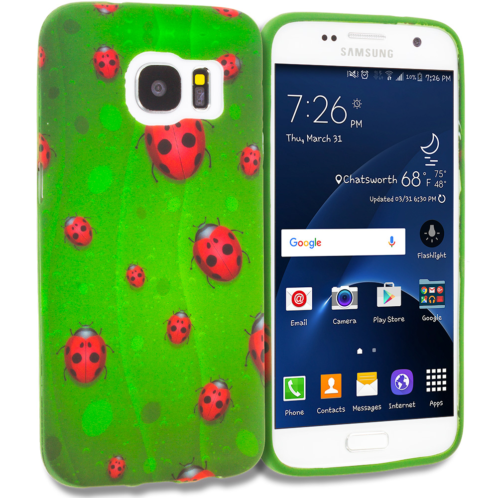 Samsung Galaxy S7 Edge Lady Bug TPU Design Soft Rubber Case Cover