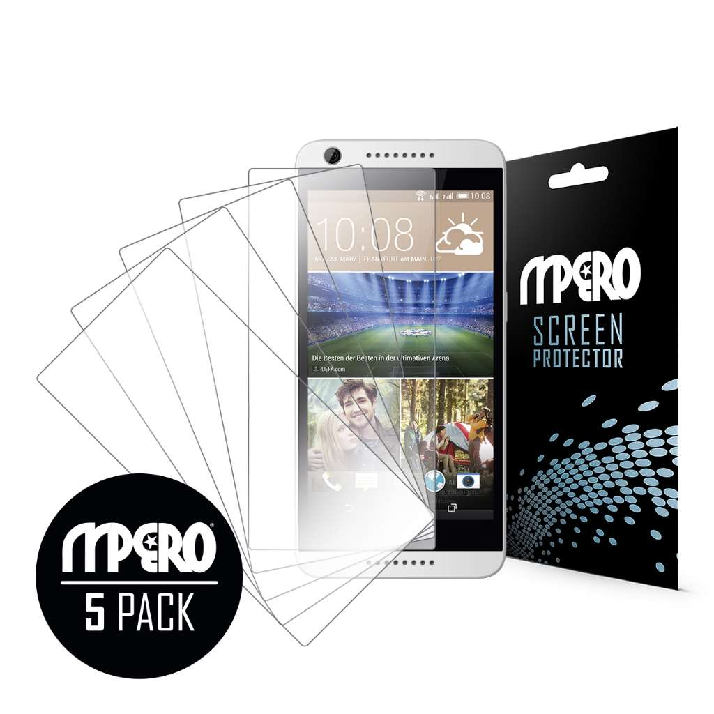 HTC Desire 626 MPERO 5 Pack of Ultra Clear Screen Protectors