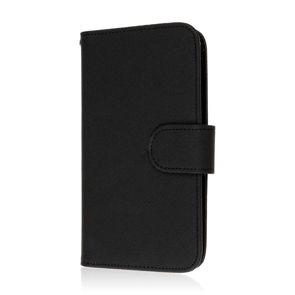 Samsung Galaxy Grand 3 - Black MPERO FLEX FLIP Wallet Case Cover