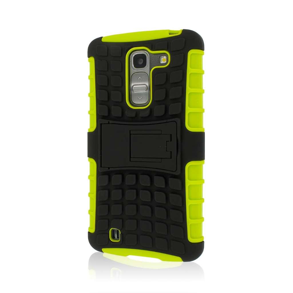 LG G Pro 2 - Neon Green MPERO IMPACT SR - Kickstand Case Cover