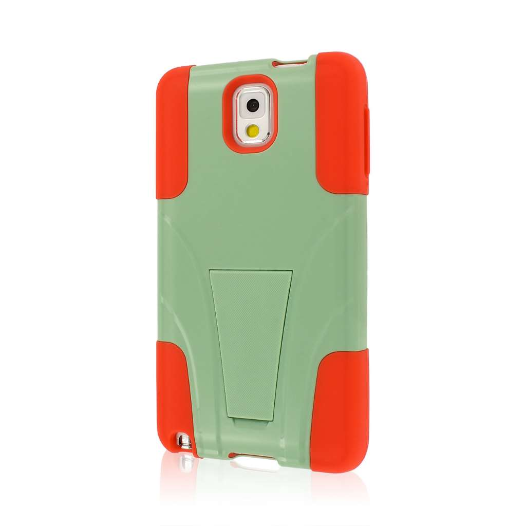 Samsung Galaxy Note 3 - Coral/ Mint MPERO IMPACT X - Kickstand Case Cover