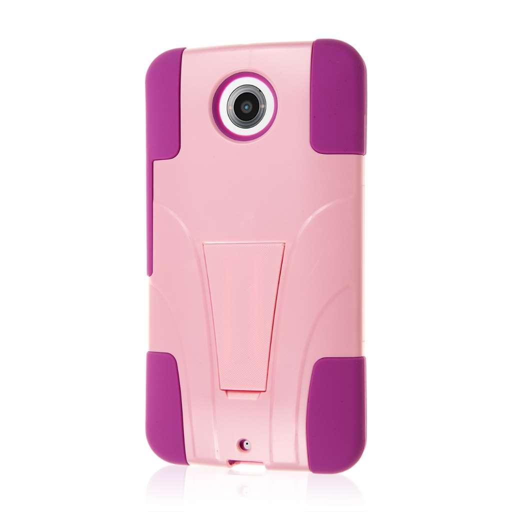 Google Nexus 6 - Pink MPERO IMPACT X - Kickstand Case Cover