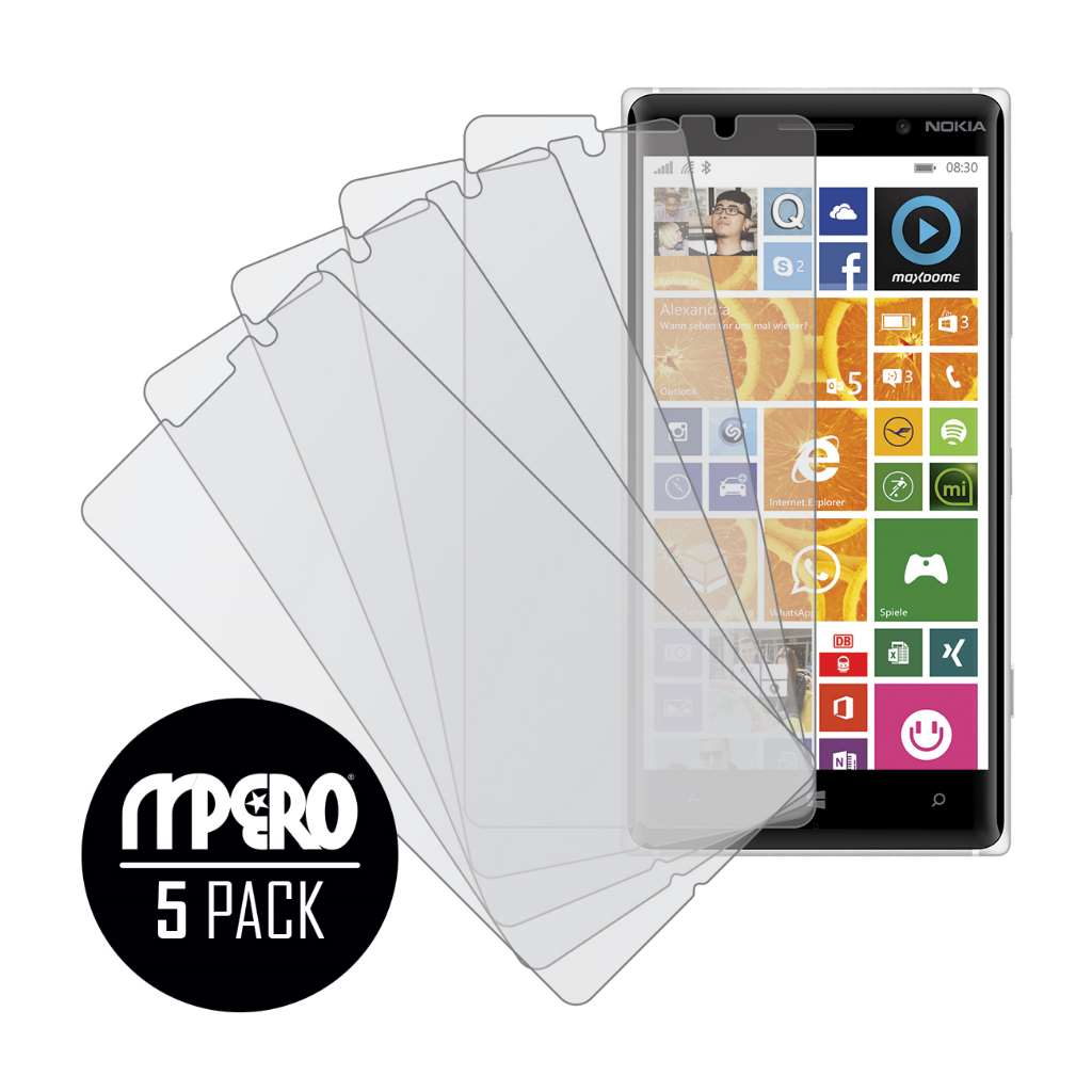 Nokia Lumia 830 MPERO 5 Pack of Matte Screen Protectors