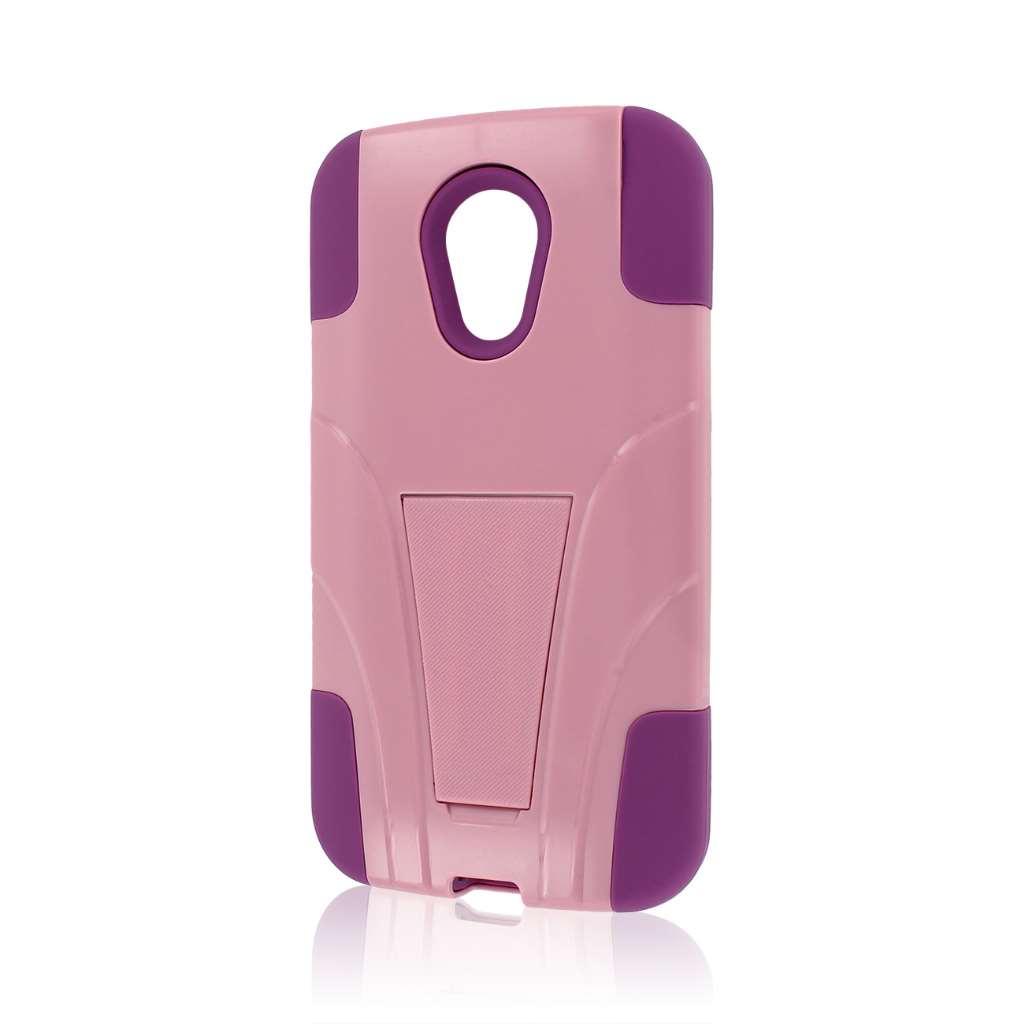 Motorola Moto G 2nd Gen 2014 - Pink MPERO IMPACT X - Kickstand Case Cover
