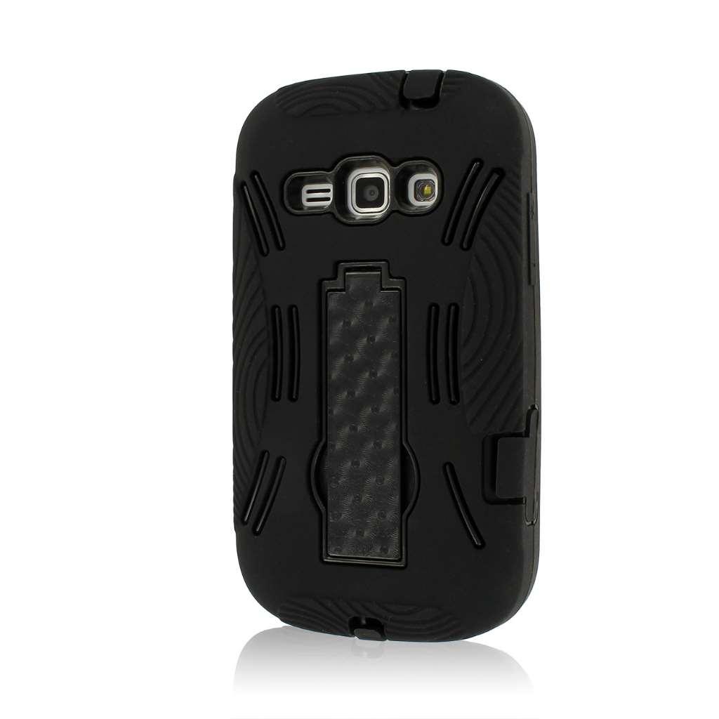 Samsung Galaxy Prevail 2/ Galaxy Ring MPERO IMPACT XL - Stand Case - BLACK -