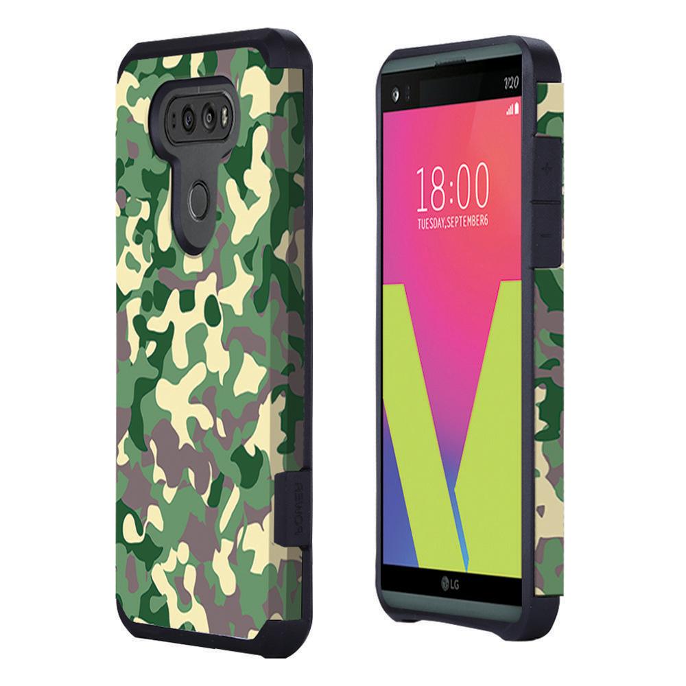 For Lg V20 Phone Hybrid Rugged Grip Slim Armor Soft Hard