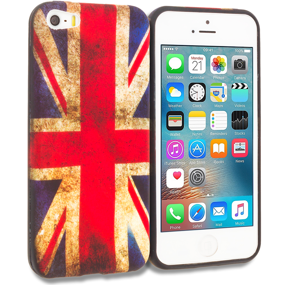 Apple iPhone 5/5S/SE The Union Flag TPU Design Soft Rubber Case Cover