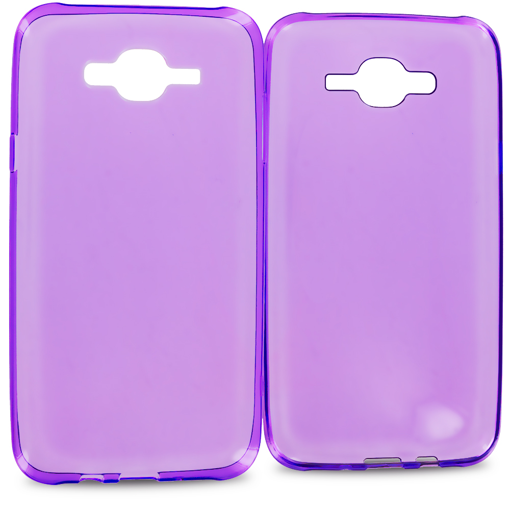 Samsung Galaxy J7 Purple TPU Rubber Skin Case Cover