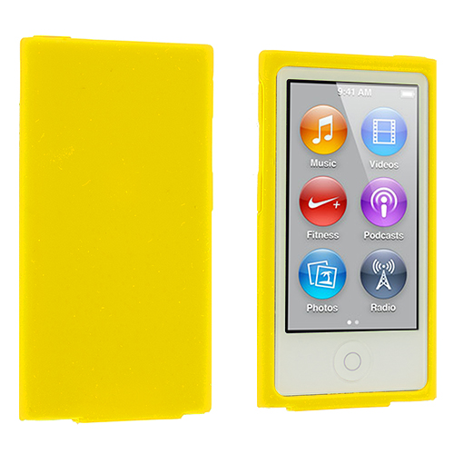 Apple iPod Nano 7th Generation Yellow Silicone Soft Skin Case Cover