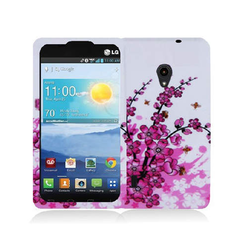 LG Lucid 2 VS870 Spring Flowers Hard Rubberized Design Case Cover