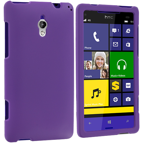 HTC 8XT Purple Hard Rubberized Case Cover