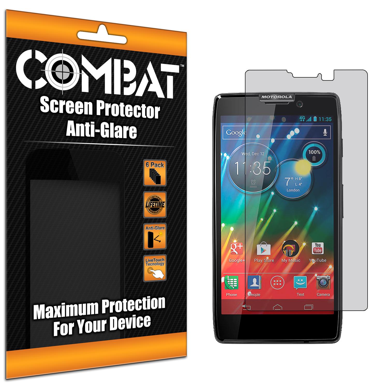 Motorola Droid Razr HD XT926 Combat 6 Pack Anti-Glare Matte Screen Protector