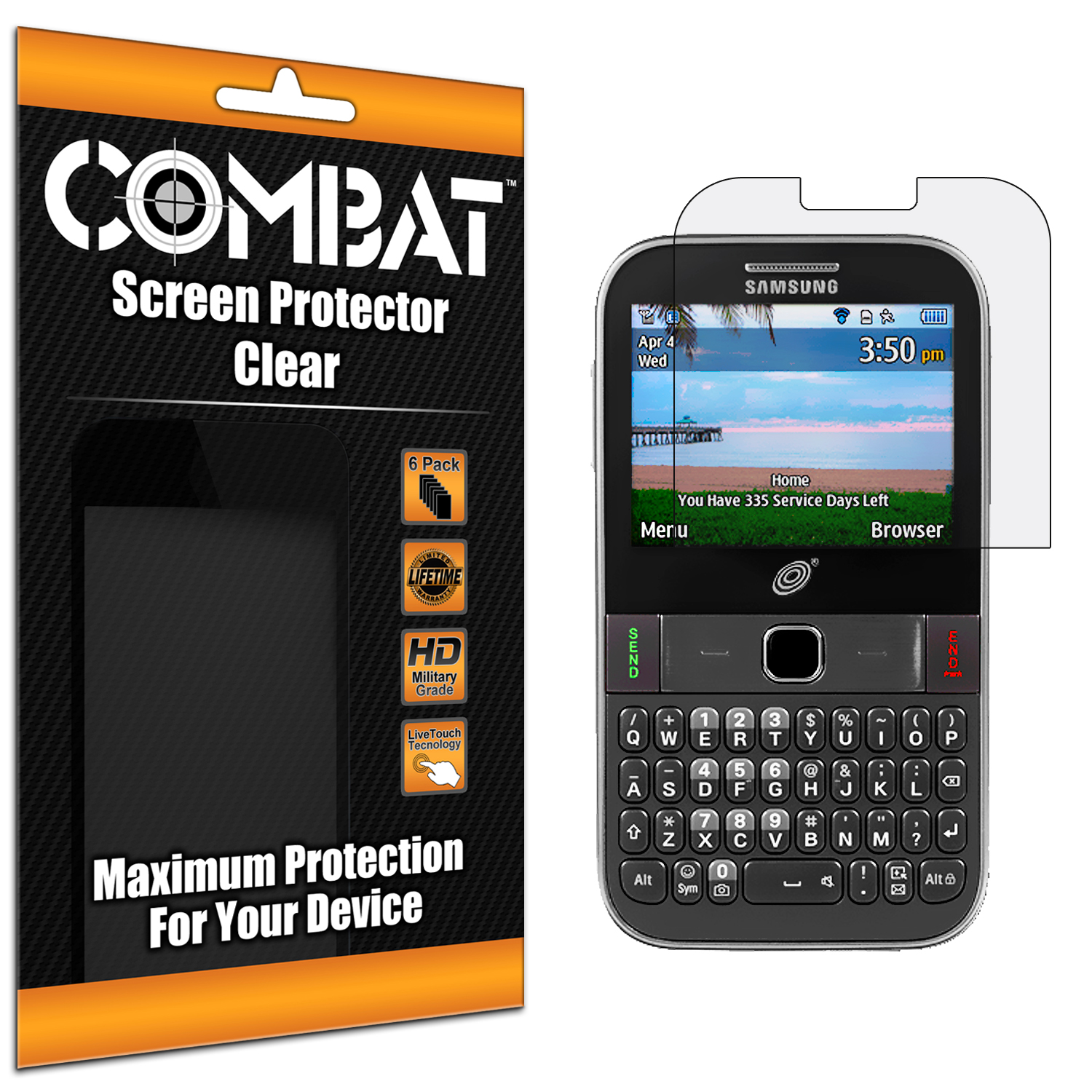 Samsung Freeform M S390G Combat 6 Pack HD Clear Screen Protector