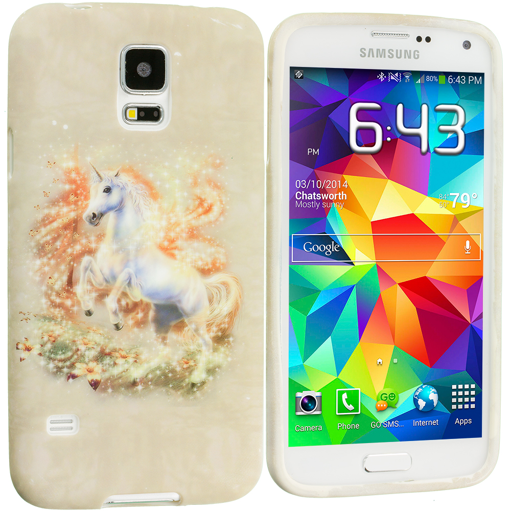 Samsung Galaxy S5 Unicorn TPU Design Soft Case Cover