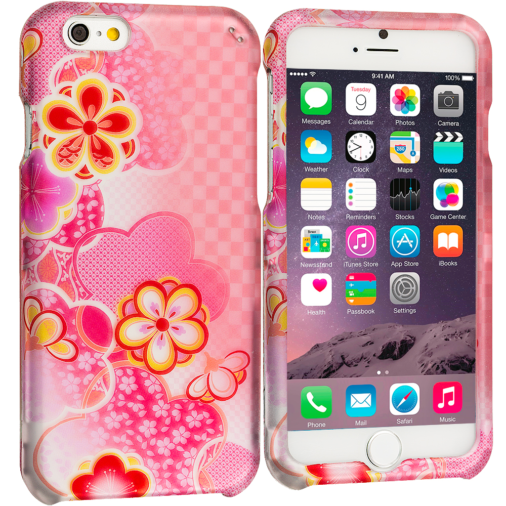 Apple iPhone 6 6S (4.7) Pink Fairy Tale 2D Hard Rubberized Design Case Cover