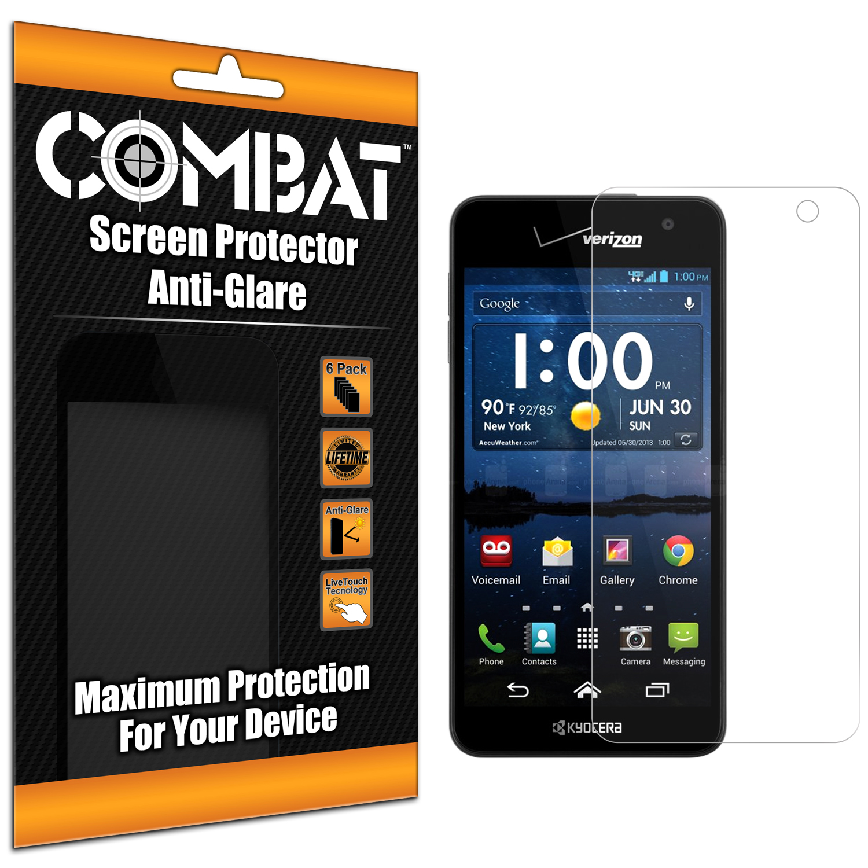 Kyocera Hydro Icon / Hydro Life Combat 6 Pack Anti-Glare Matte Screen Protector