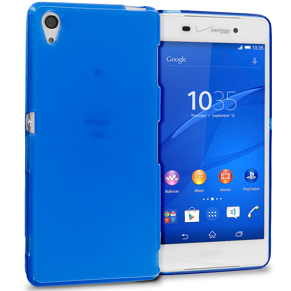 Sony Xperia Z3 Blue TPU Rubber Skin Case Cover