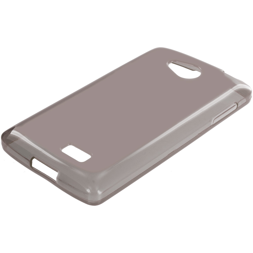 LG Transpyre Tribute F60 Smoke TPU Rubber Skin Case Cover