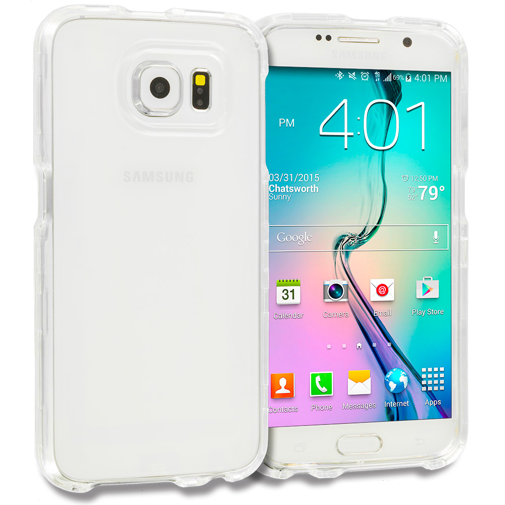 Samsung Galaxy S6 Clear Crystal Transparent Hard Case Cover