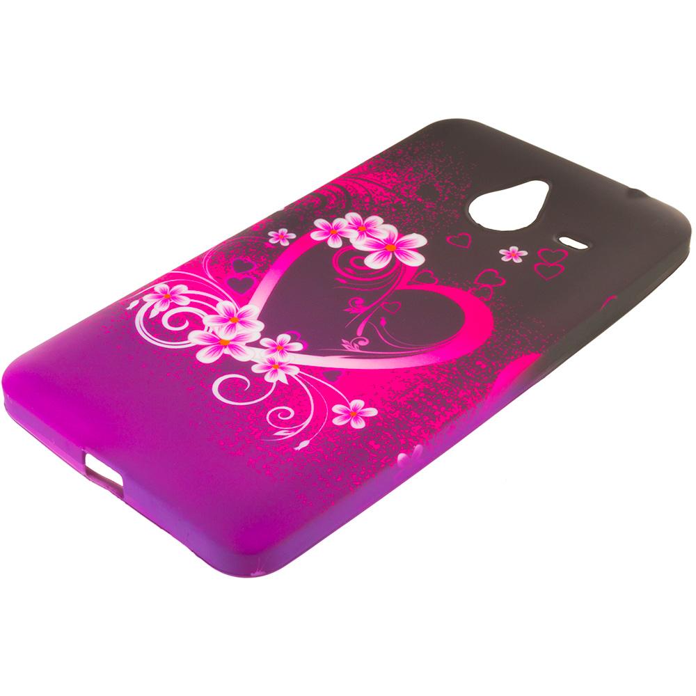 Microsoft Lumia 640 XL Purple Love TPU Design Soft Rubber Case Cover