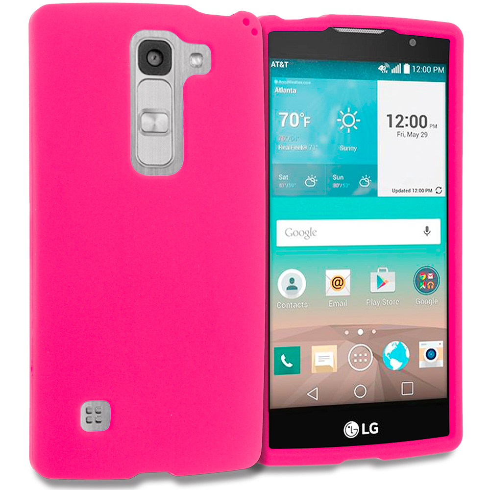 LG Escape 2 Logos Spirit LTE Hot Pink Hard Rubberized Case Cover
