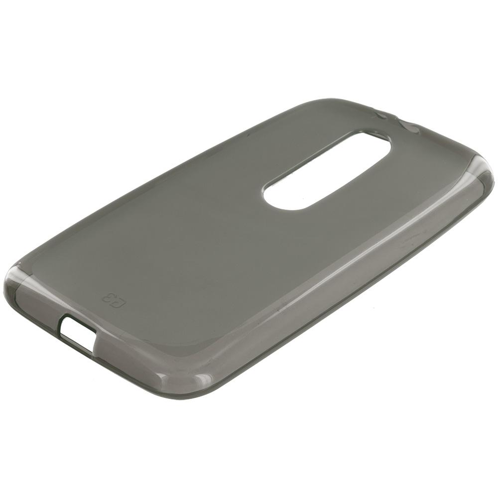 Motorola Moto G 3rd Gen 2015 Smoke TPU Rubber Skin Case Cover