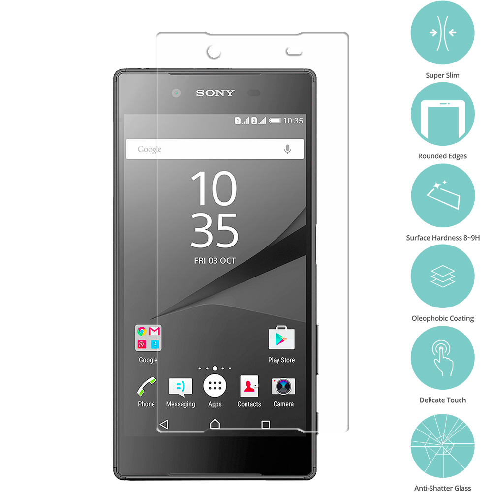Sony Xperia Z5 Premium Clear Tempered Glass Film Screen Protector Clear