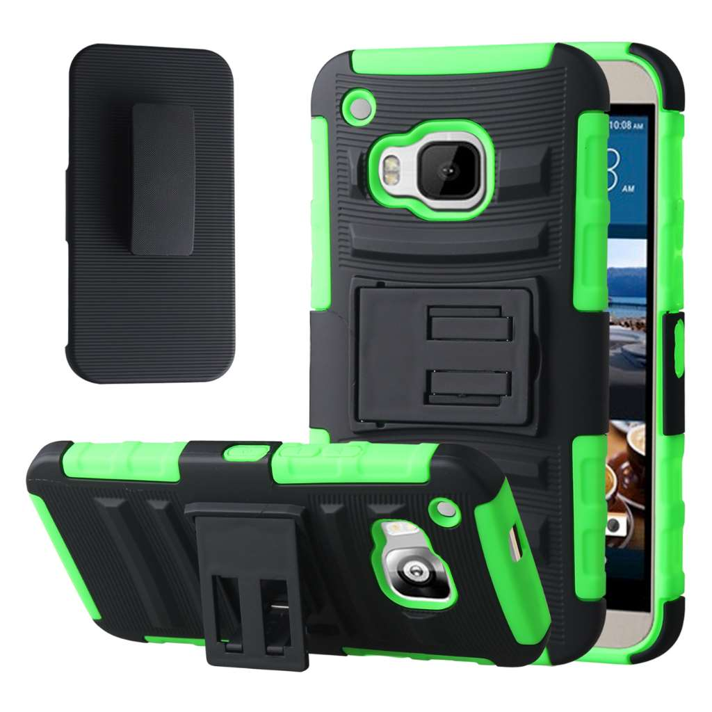 HTC One M9 - Neon Green MPERO IMPACT XT - Kickstand Case Cover
