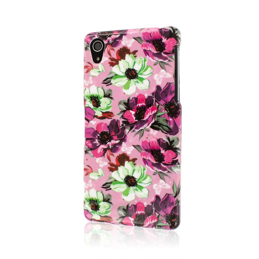 Sony Xperia Z2 - Vintage Pink Flower MPERO SNAPZ - Case Cover