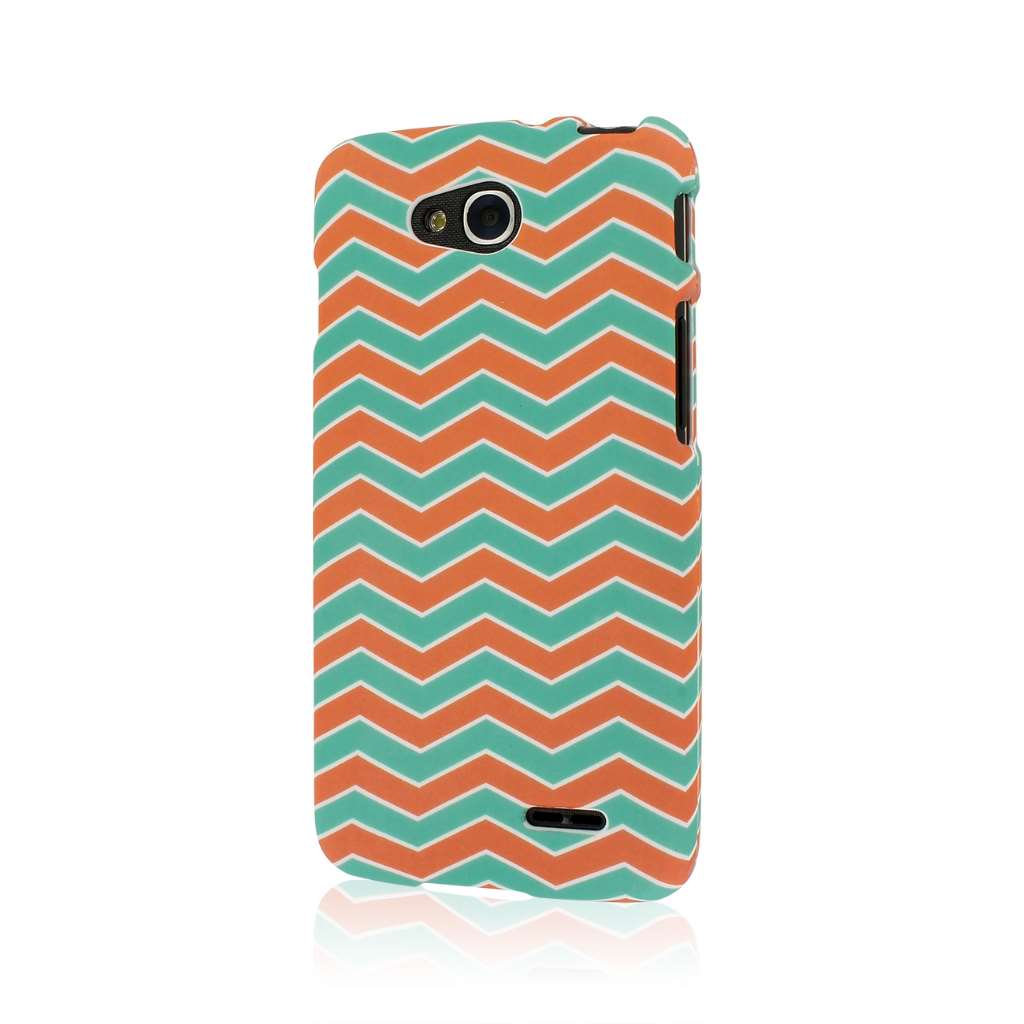 LG Optimus L90 - Mint Chevron MPERO SNAPZ - Case Cover