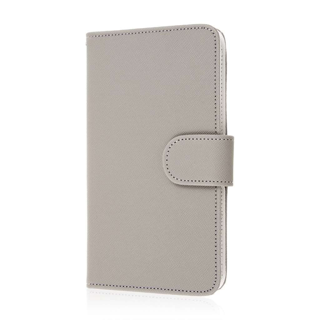 Samsung Galaxy Note Edge - Gray MPERO FLEX FLIP Wallet Case Cover
