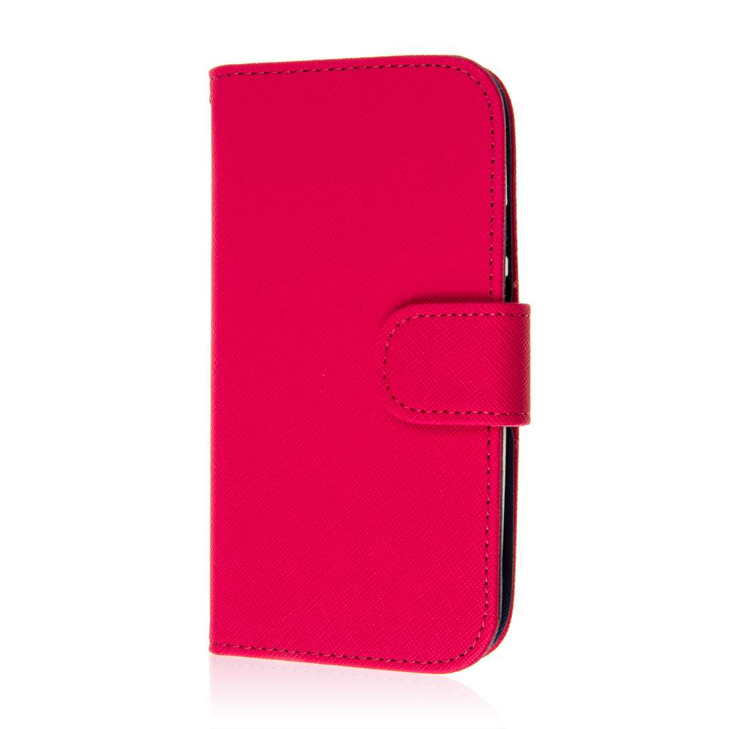 Motorola Moto G 2nd Gen 2014 - Hot Pink MPERO FLEX FLIP Wallet Case Cover