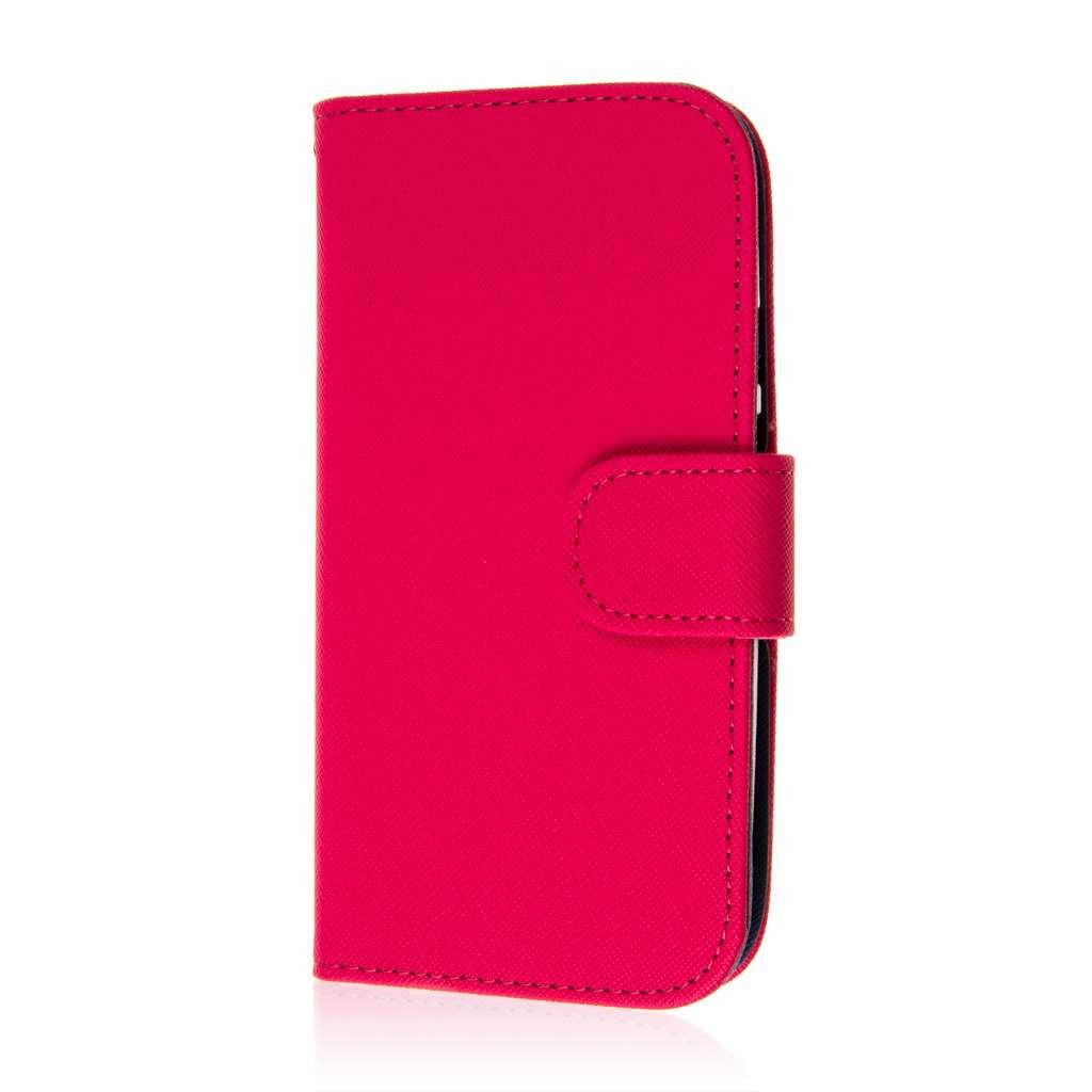 Motorola Moto G 2nd Gen 2014 - Hot Pink MPERO FLEX FLIP Wallet Case Cover