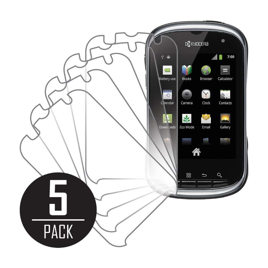 Kyocera Milano MPERO 5 Pack of Clear Screen Protectors