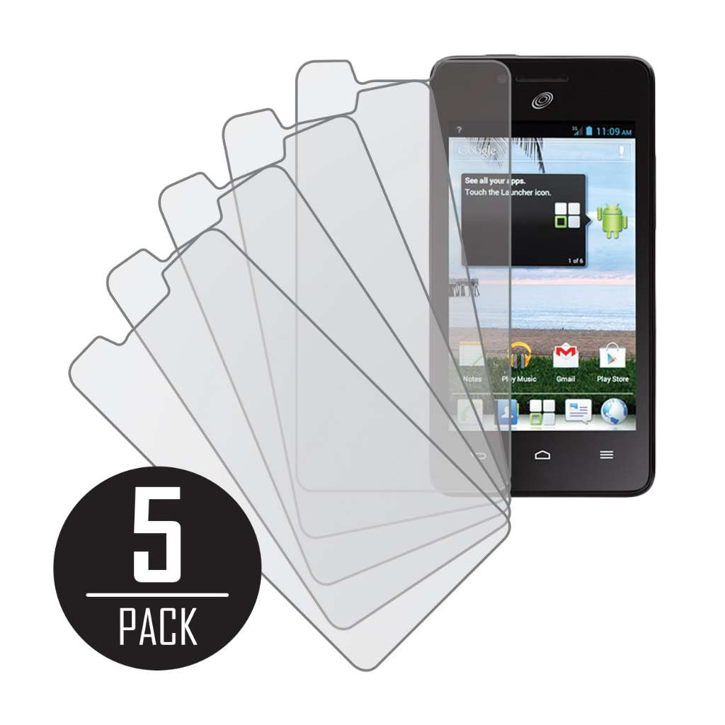Huawei Ascend Plus MPERO 5 Pack of Matte Anti-Glare Screen Protectors