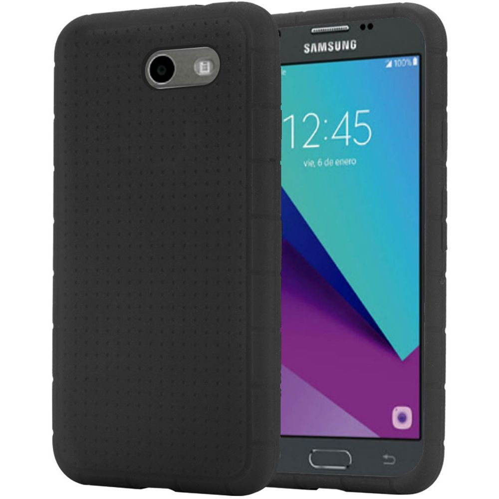 for samsung galaxy j3 j327p emerge rugged thick silicone. Black Bedroom Furniture Sets. Home Design Ideas