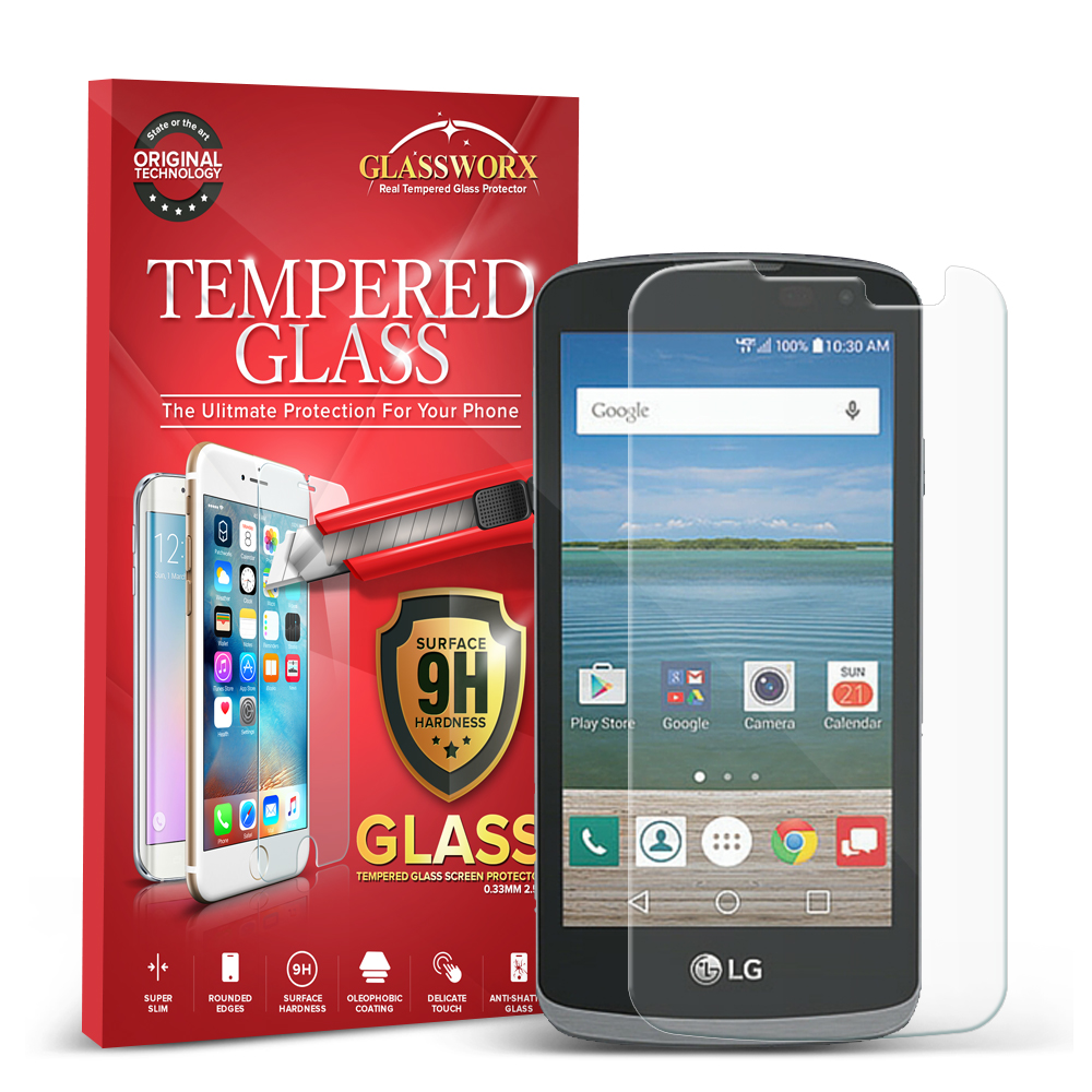 LG Spree Optimus Zone 3 VS425 K4 GlassWorX HD Clear Tempered Glass Screen Protector