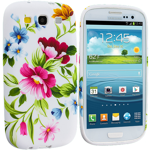 Samsung Galaxy S3 Flower Painting TPU Design Soft Case Cover