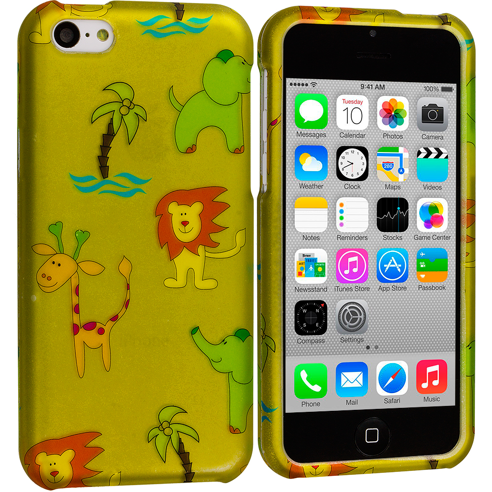 Apple iPhone 5C Zoo Hard Rubberized Design Case Cover