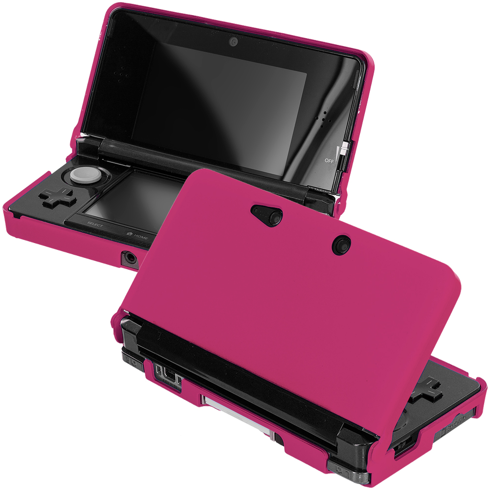 Nintendo 3DS Hot Pink Hard Rubberized Case Cover