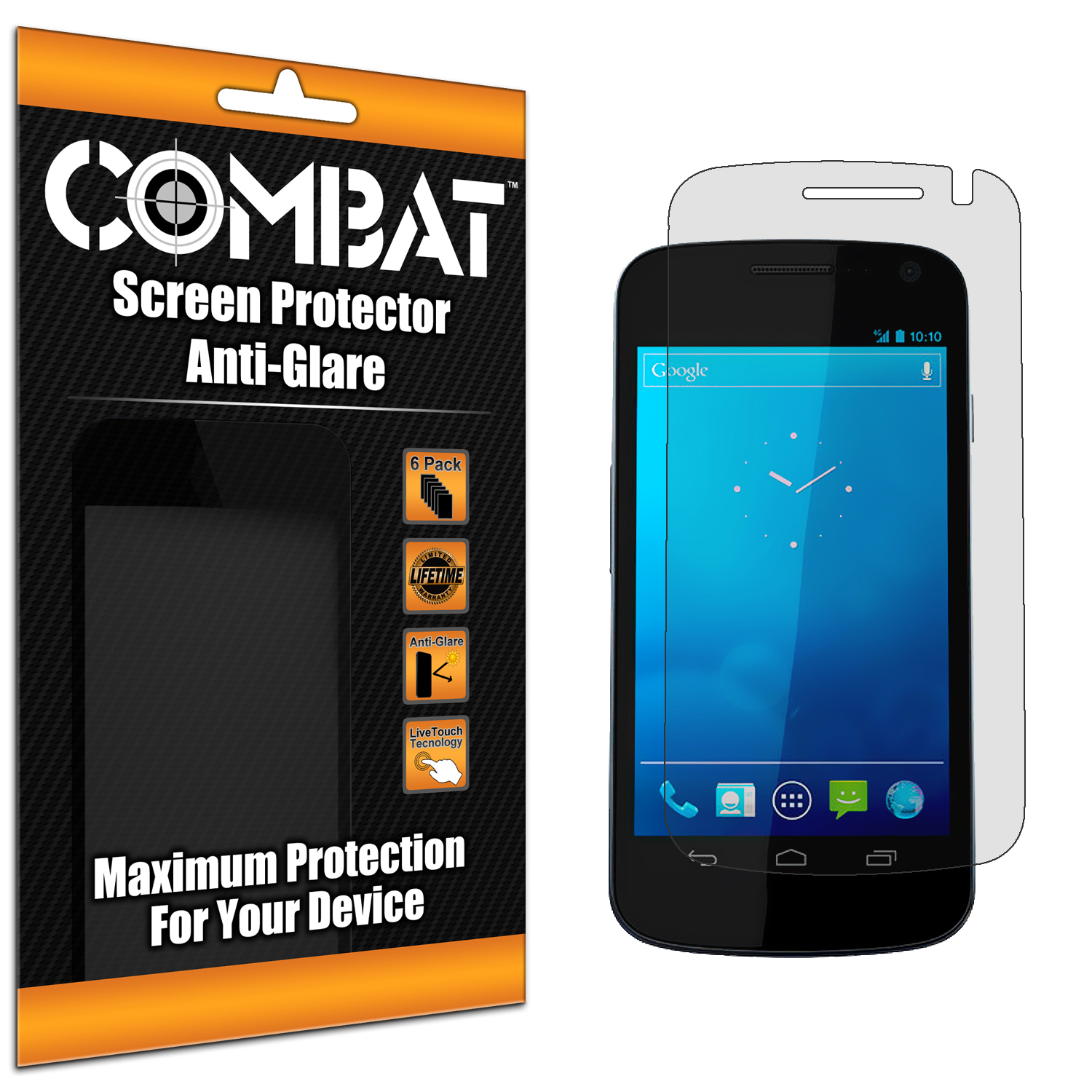 Samsung Droid Prime i515 Combat 6 Pack Anti-Glare Matte Screen Protector