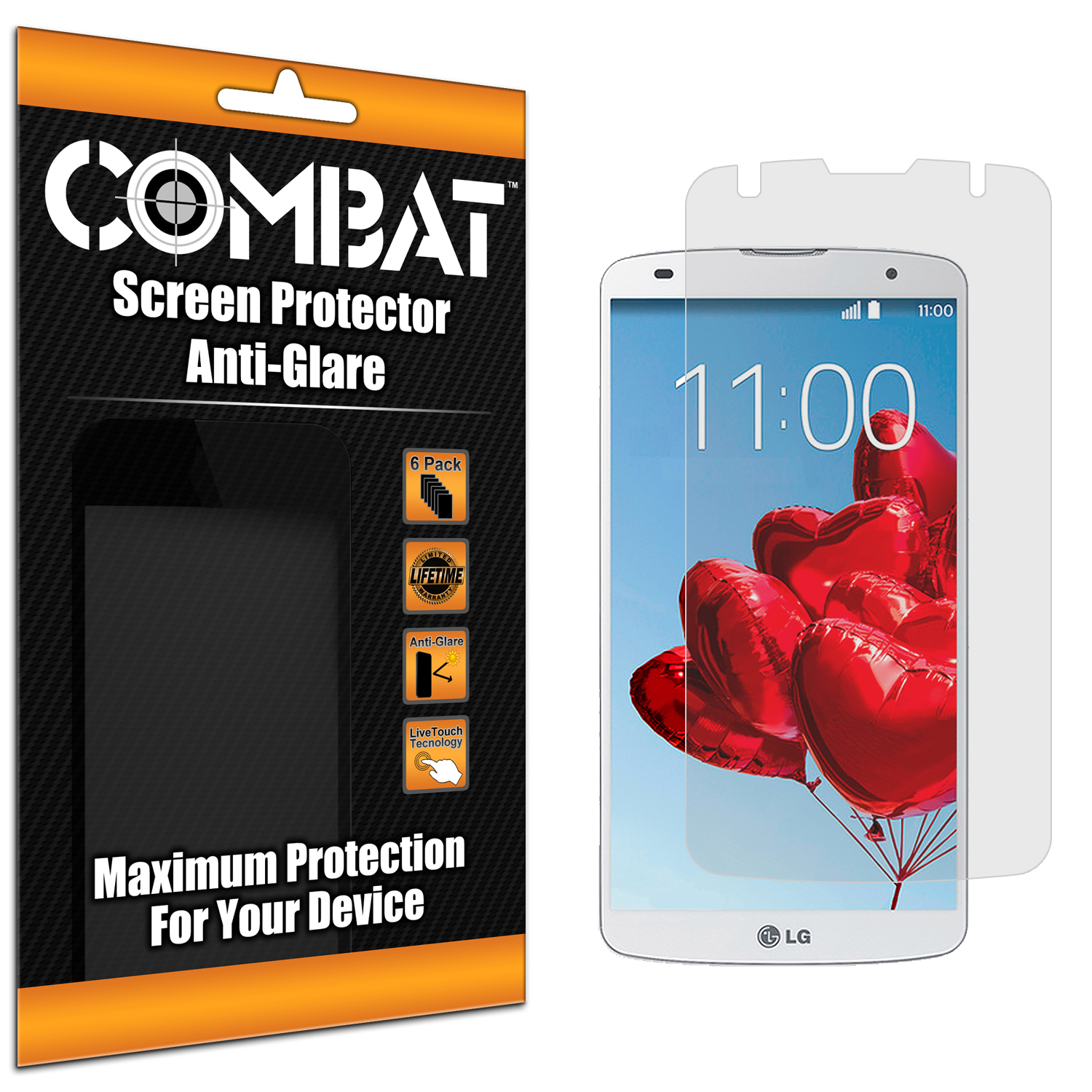 LG G Pro 2 Combat 6 Pack Anti-Glare Matte Screen Protector