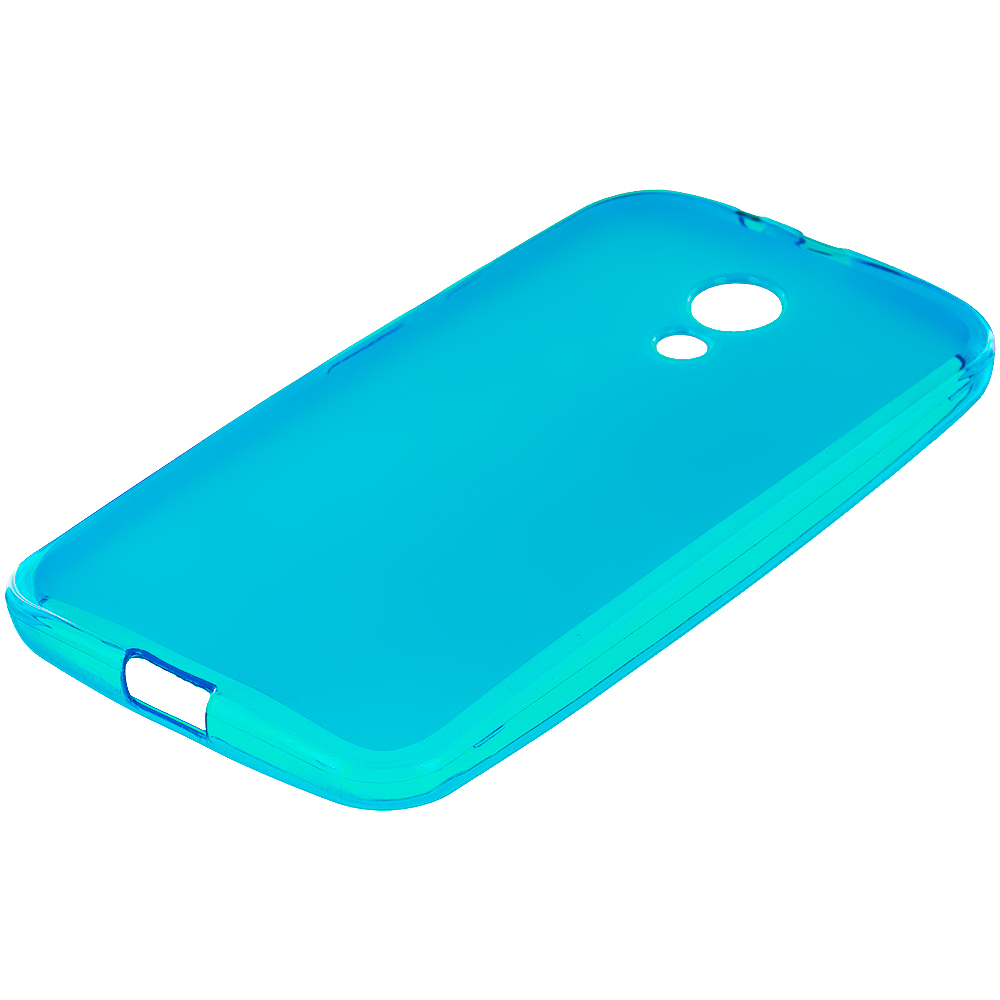 Motorola Moto G 2nd Gen 2014 Baby Blue TPU Rubber Skin Case Cover
