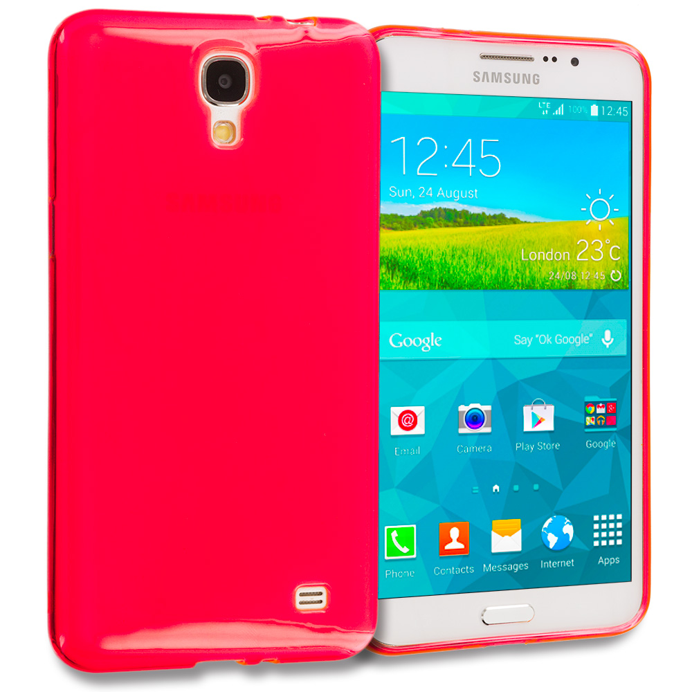 Samsung Galaxy Mega 2 Red TPU Rubber Skin Case Cover
