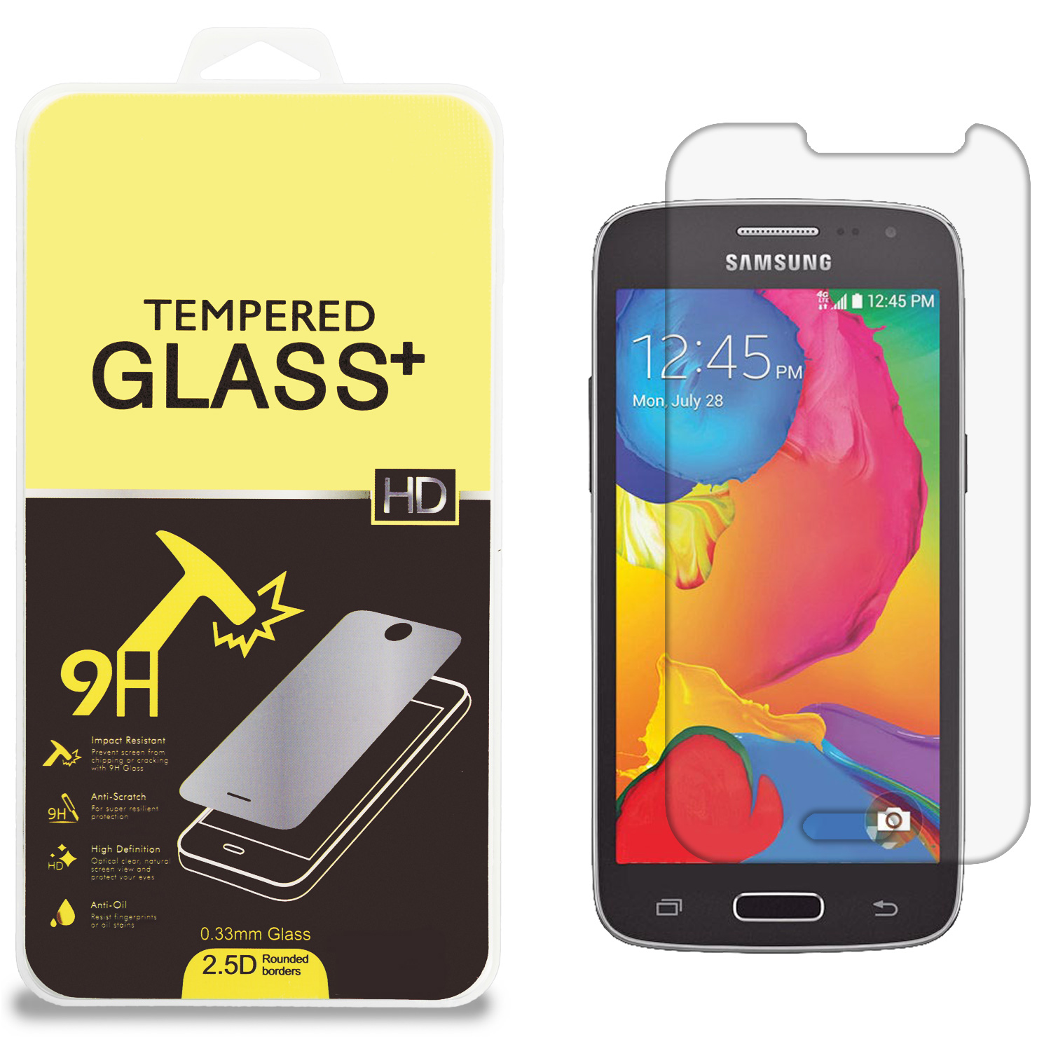Samsung Galaxy Avant G386 Clear Tempered Glass High Quality 0.33mm LCD Screen Protector