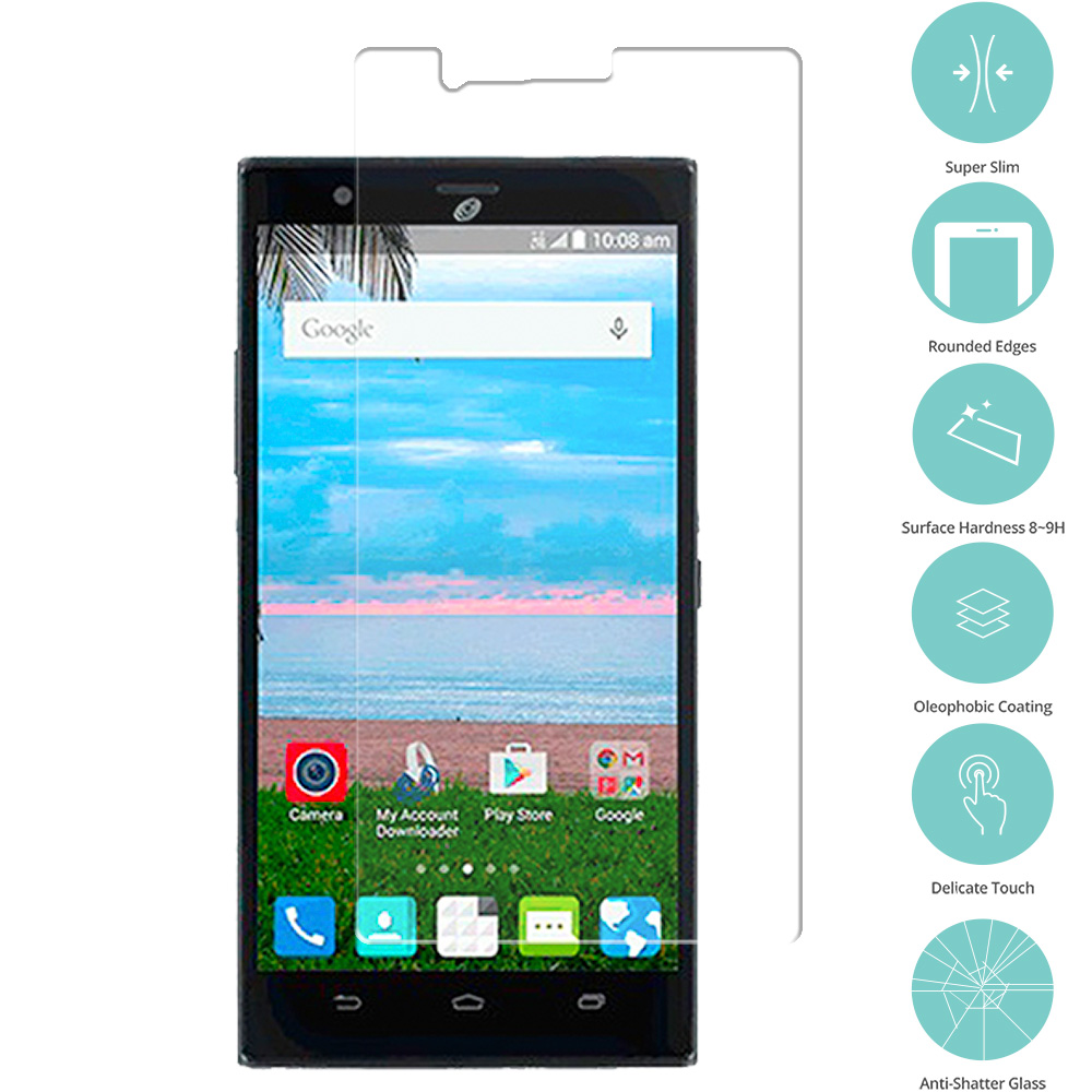 ZTE Lever Z936 Clear Tempered Glass Film Screen Protector Clear