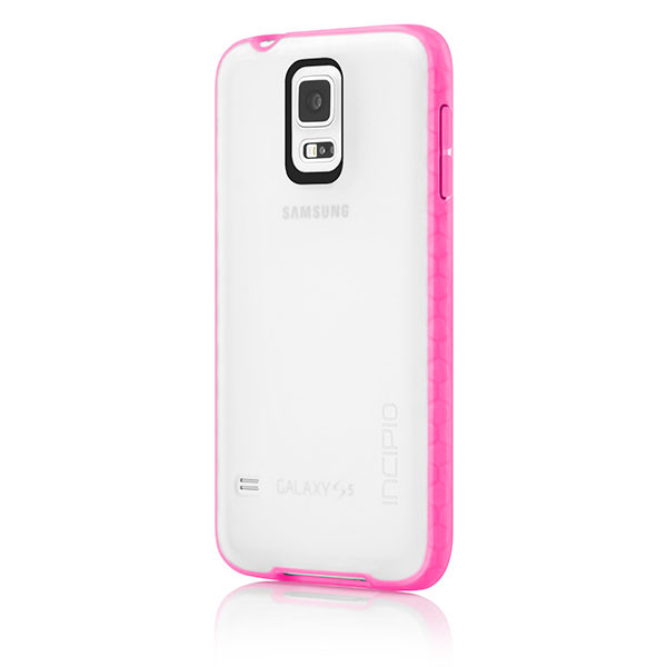 Samsung Galaxy S5 - Frost/Neon Pink Incipio Octane Case Cover